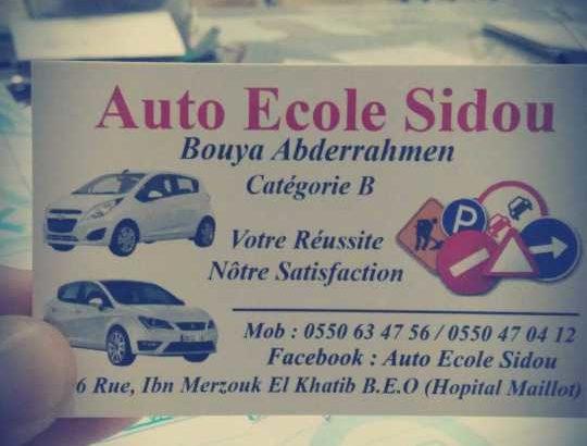 auto école SIDOU